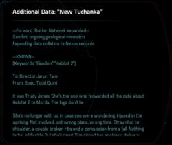 "Additional Data: ""New Tuchanka"""