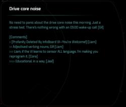 Drive core noise