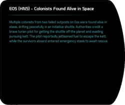 EOS (HNS) - Colonists Found Alive in Space