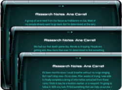 Research Notes: Ana Carrell