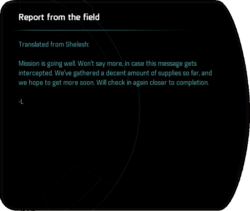 Report from the field