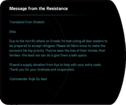 Message from the Resistance
