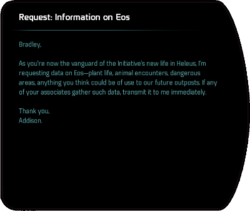 Request: Information on Eos
