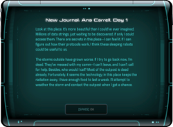 New Journal: Ana Carrell, Day 1