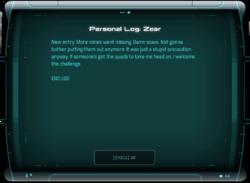 Personal Log: Zear
