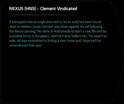 NEXUS (HNS) - Clement Vindicated