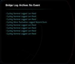 Bridge Log: Archive: No Event
