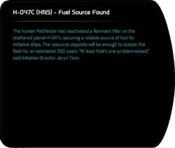 H-047C (HNS) - Fuel Source Found