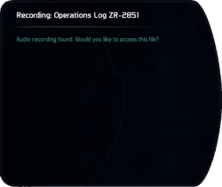Recording: Operations Log ZR-2851
