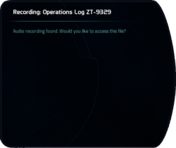 Recording: Operations Log ZT-9329