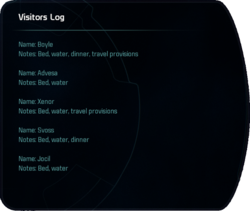 Visitors Log