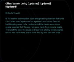 Offer: Varren Jerky (Updated) (Updated) (Updated)