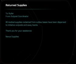 Returned Supplies