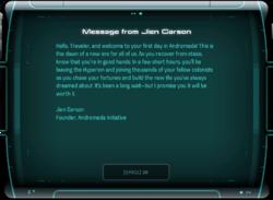 Message from Jien Garson