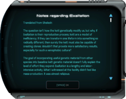 Notes regarding Exaltation