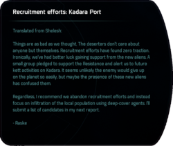 Recruitment efforts: Kadara Port