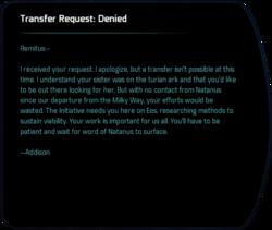 Transfer Request: Denied