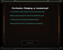 Purification, Pledging, or Awakening?