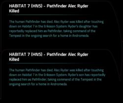 HABITAT 7 (HNS) - Pathfinder Alec Ryder Killed