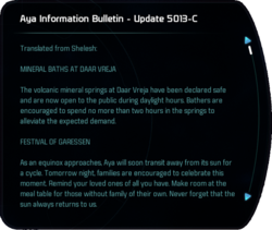 Aya Information Bulletin - Update 5013-C