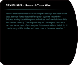 NEXUS (HNS) - Research Team Killed