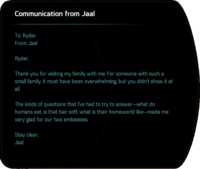 Communication from Jaal - after Runs in the Family, embassy on Aya.png