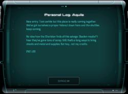Personal Log: Aquila
