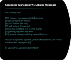 SecuRange Managerial VI: Collated Messages