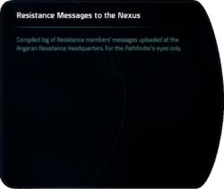 Resistance Messages to the Nexus