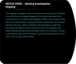 NEXUS (HNS) - Uprising Investigation Ongoing