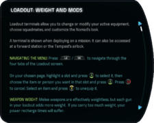 Tutorials - Loadout - Weight and Mods Crop 1.png