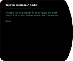 Received message: A Traitor