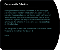 Concerning the Collective