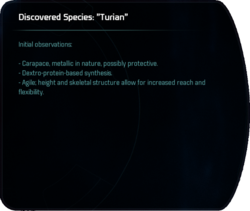 "Discovered Species: ""Turian"""