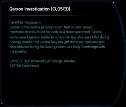 Garson investigation [CLOSED]