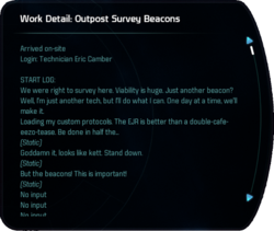 Work Detail: Outpost Survey Beacons