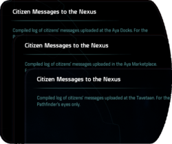 Citizen Messages to the Nexus