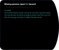 Missing persons report (J. Garson)