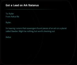 Got a Lead on Ark Natanus