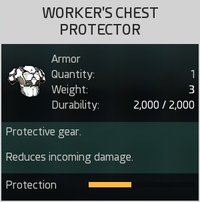 Worker's Chest Protector