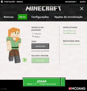Launcher da Edição Java - Minecraft Wiki Oficial