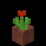 Červený tulipán v květináči.png