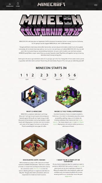 Infos zur MineCon 2016