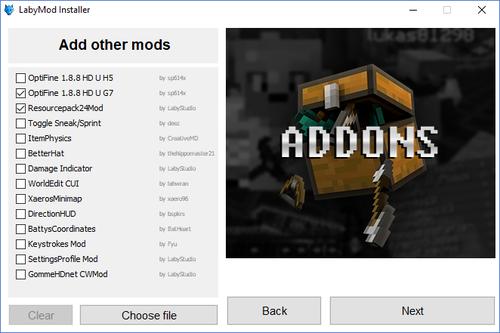 Weitere Mods hinzufügen.