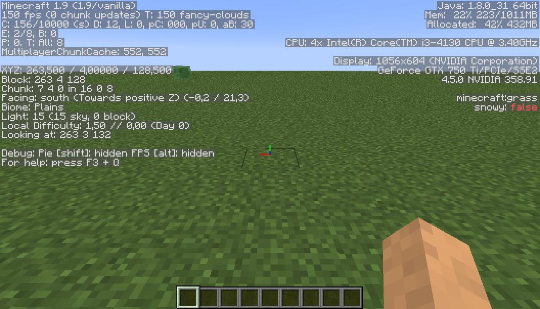écran De Débogage Le Minecraft Wiki Officiel