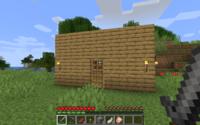 Une maison en pierre, dans un biome de toundra.