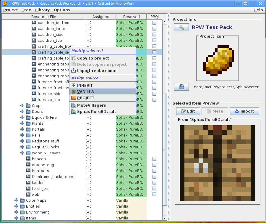 Is there a good texture pack creator for mac?