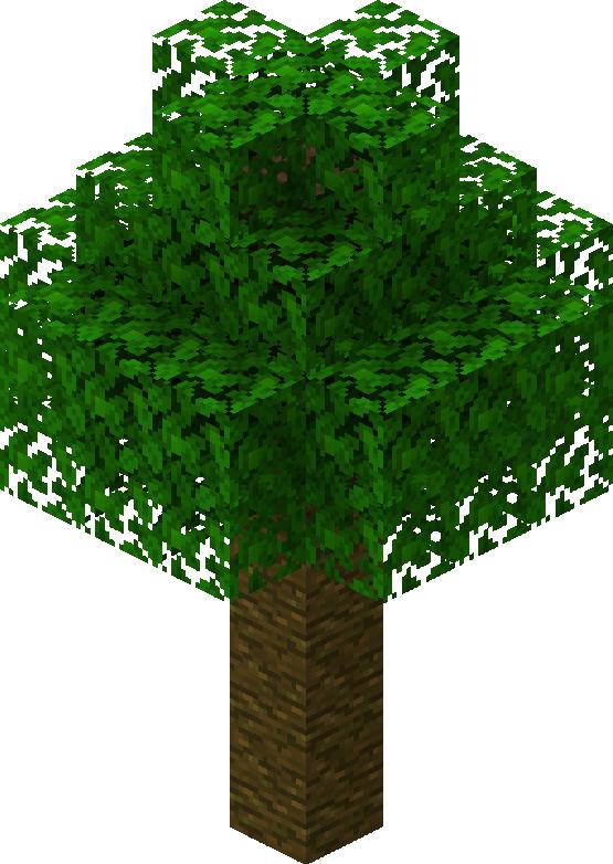 отмечают картинка дерева из майнкрафта также