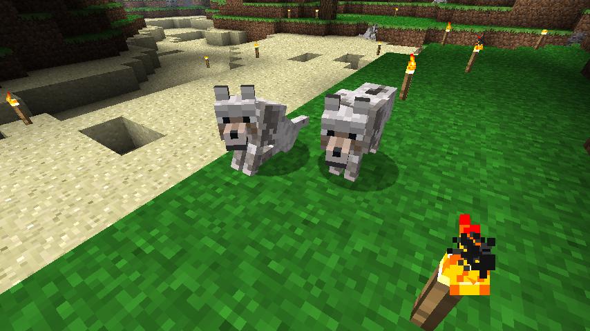 Prerelease Wolf Minecraft Mob Skin