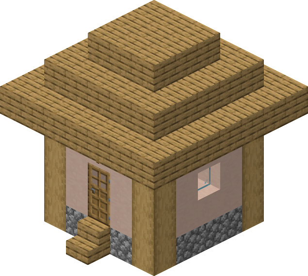 Village  Structure  Blueprints  Plains Small House 2 Blueprint  U2013 Official Minecraft Wiki